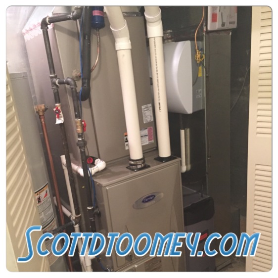 New Carrier Infinity HVAC unit with Honeywell True Clean Air Cleaner and 24 Volt UV Bulb with Deodorizer and an Aprilaire Humidifier. Install 1/2015 - Schaumburg, IL