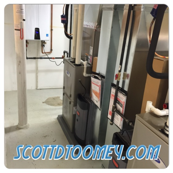 ...Those old units were replaced with 2 Carrier Infinity Modulation Furnaces and a Navien Tankless Water Heater.